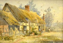 William Henry Hall (British 1812-1880): Rural Cottage