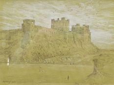 Gareth Floyd (British 1940-): 'Bamburgh Castle'