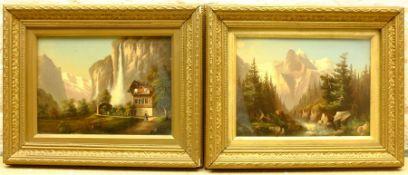 Continental School (20th century): Alpine Landscapes