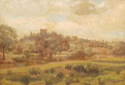 English School (Early 20th century): Yorkshire River Landscape