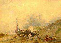 Circle of Henry Barlow Carter (British 1804-1868): Unloading on the Rocks