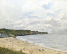 T Nicholson (British 20th century): Sandsend near Whitby