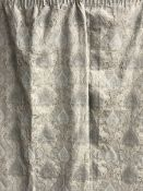 Pair lined curtains in light blue paisley patterned fabric, W220cm, Drop - 227cm