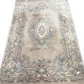 Chinese washed woollen rug, 271cm x 181cm