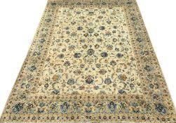 Keshan ivory ground rug