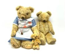 Merrythought - two 1930s teddy bears