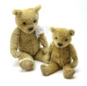 Two 1930s Chiltern type graduated teddy bears