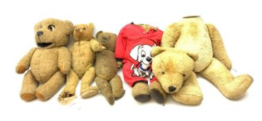 Quantity of early wood wool filled teddy bears for restoration.