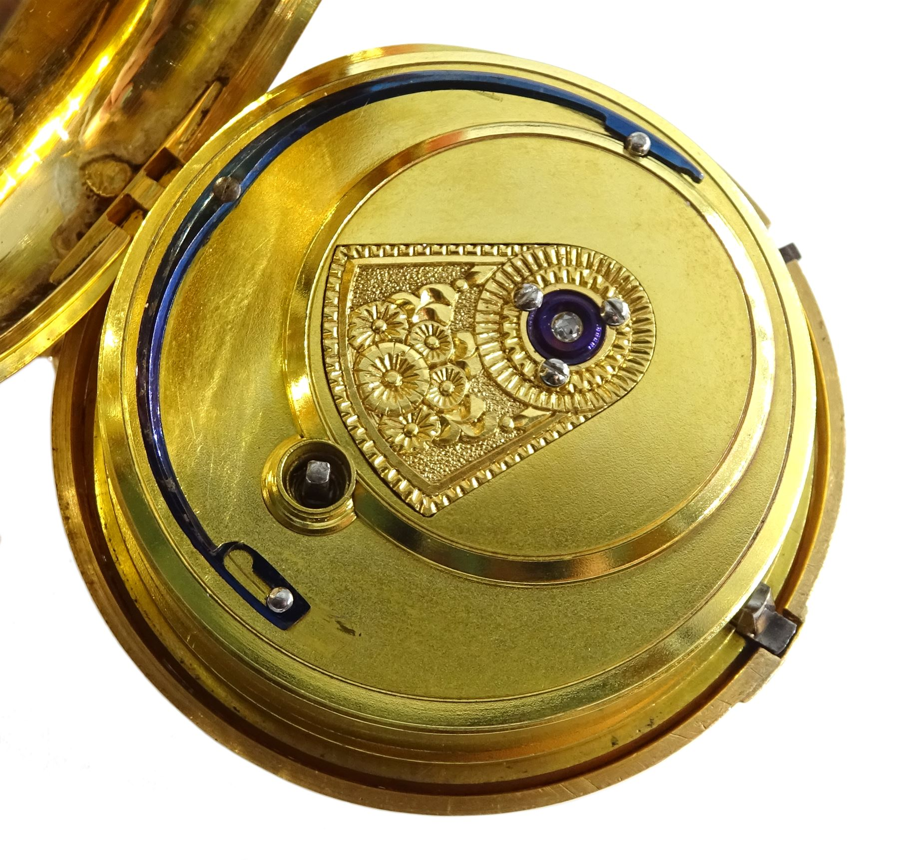 George III 18ct gold pair cased English lever fusee pocket watch by John Bolton - Image 5 of 9