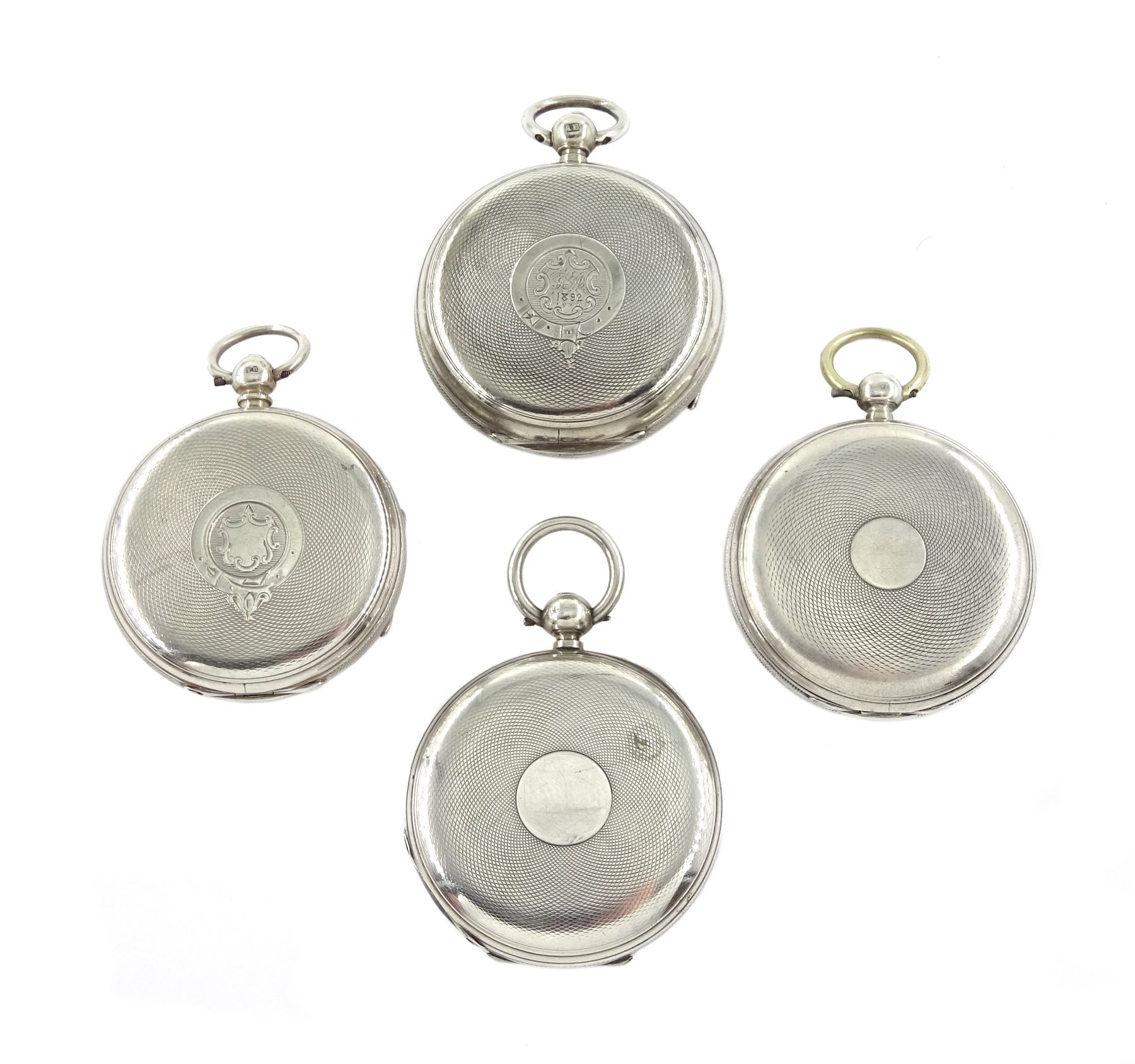 Victorian silver half hunter lever fusee presentation pocket watch by Robert H Halford, silver open - Image 2 of 4