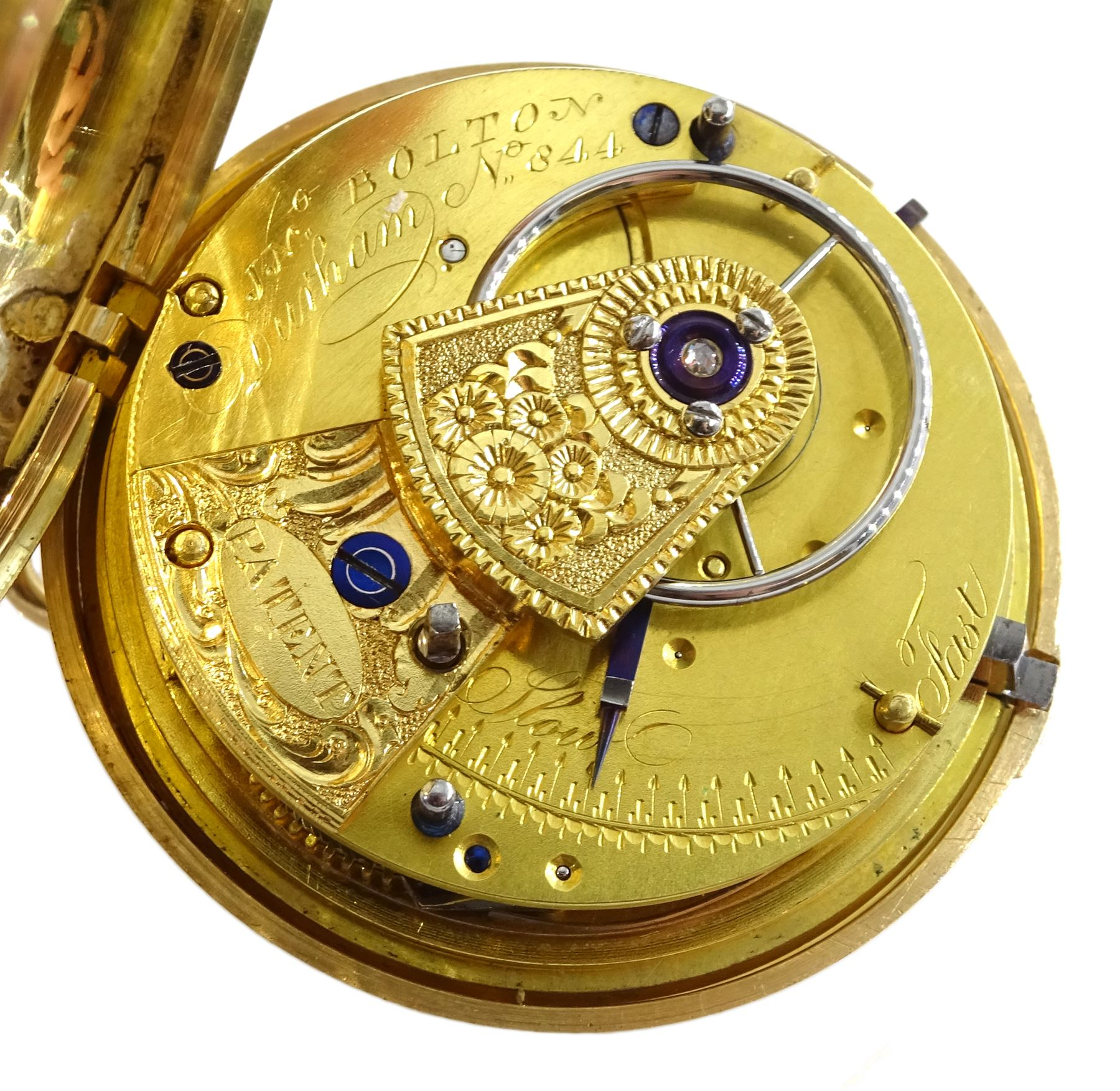 George III 18ct gold pair cased English lever fusee pocket watch by John Bolton - Image 2 of 9