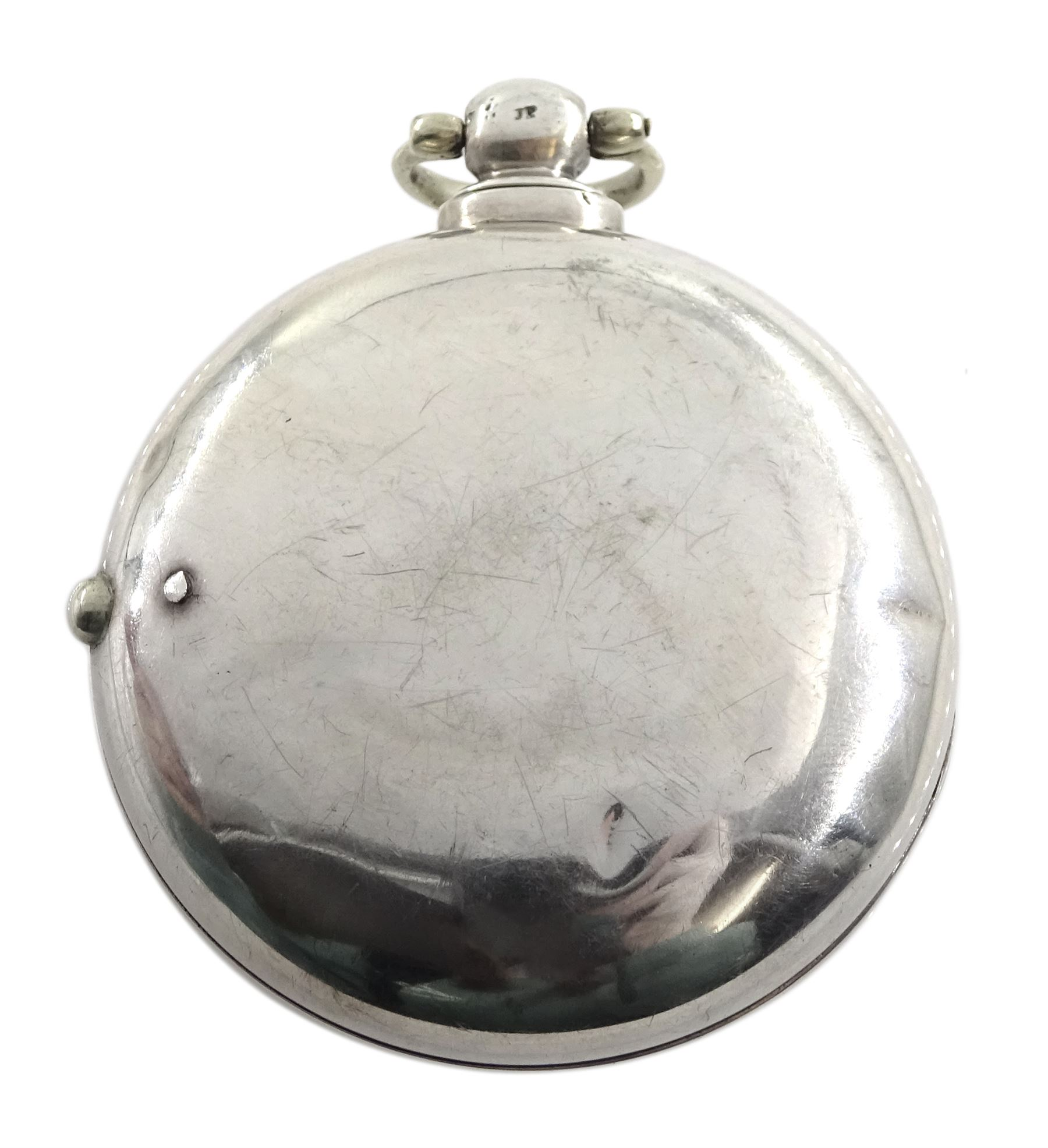 William IV silver pair cased verge fusee pocket watch by J C Heselton - Image 2 of 8