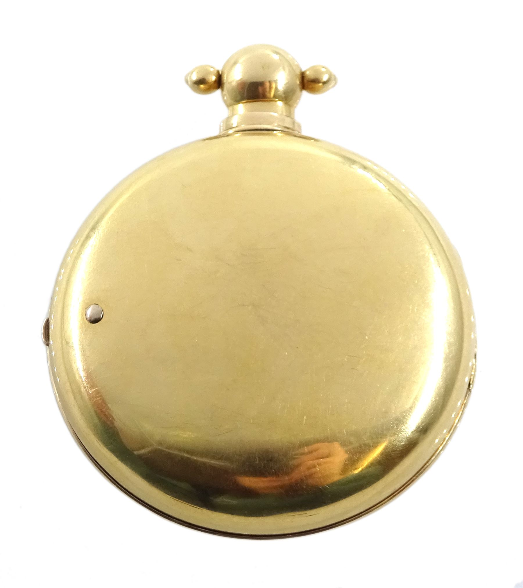 George III 18ct gold pair cased English lever fusee pocket watch by John Bolton - Image 8 of 9