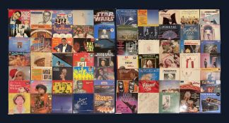 Mostly Jazz vinyl records including 'Nat King Cole Melody Mile'