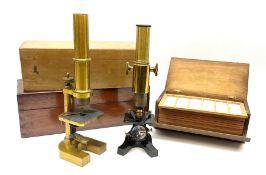 Carl Zeiss Jena brass monocular microscope