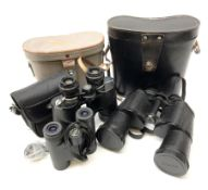 Pair of Russian USSR 6NU 7 x 50 binoculars with two pairs of light filters no.N82004148; pair of Bus