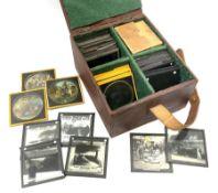 Set of twelve late 19th century magic lantern glass slides entitled 'A Negro's Life'