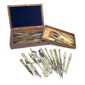 Drawing instruments - approximately thirty