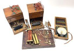 Heeling Error Instrument Patt.5 No.1613E (box numbered 1810E) with integrated spirit level D11cm; tw