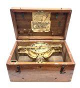 Late 19th century brass mining dial by John Davis & Son London & Derby No.790