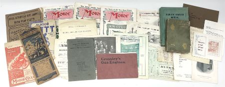 Motoring History - The Automobile Handbook 1908; The Royal Automobile Club Journal 1908 No.XVI; thre