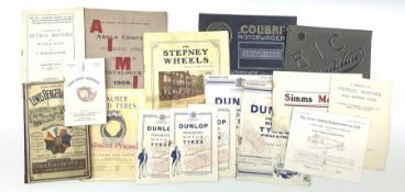Motoring History - various early 20th century automobile parts catalogues including E.I.C. Ignitiali