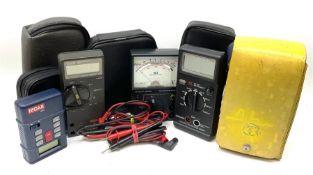 Testing equipment - Fluke 75 multimeter; JSD Testphone SA9083 testmeter; Caltek CM3230 Digital Multi