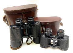 Pair of Carl Zeiss Jena Dekarem 10 x 50 binoculars with broad arrow mark no.1889889