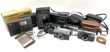 Commodore LC63SR scientific calculator in case; Casio HS-8LU solar powered calculator; National Pana