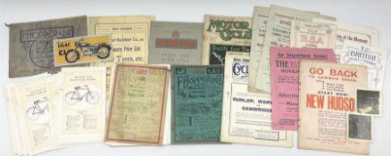 Cycling History - three F. Hopper & Co catalogues 1907/08/15; Midland Rubber Co. Ltd. Tyre catalogue