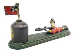 Very rare 19th century John Harper & Co. mechanical cast-iron money box