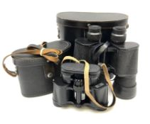 Pair of Russian USSR 6NB 7 x 50 binoculars no.322195 in carrying case; and pair of Russian USSR 6NU5