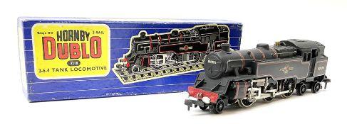Hornby Dublo - three-rail 4MT Standard 2-6-4 Tank locomotive No.80059 with totems facing forward