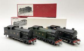 Hornby Dublo - three re-painted Class N2 0-6-2 Tank locomotives comprising LNER black No.2690; LMS b