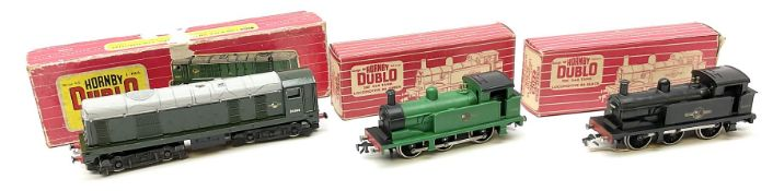 Hornby Dublo - two-rail Class R1 0-6-0 Tank locomotive No.31337 with instructions and tested tag; 22