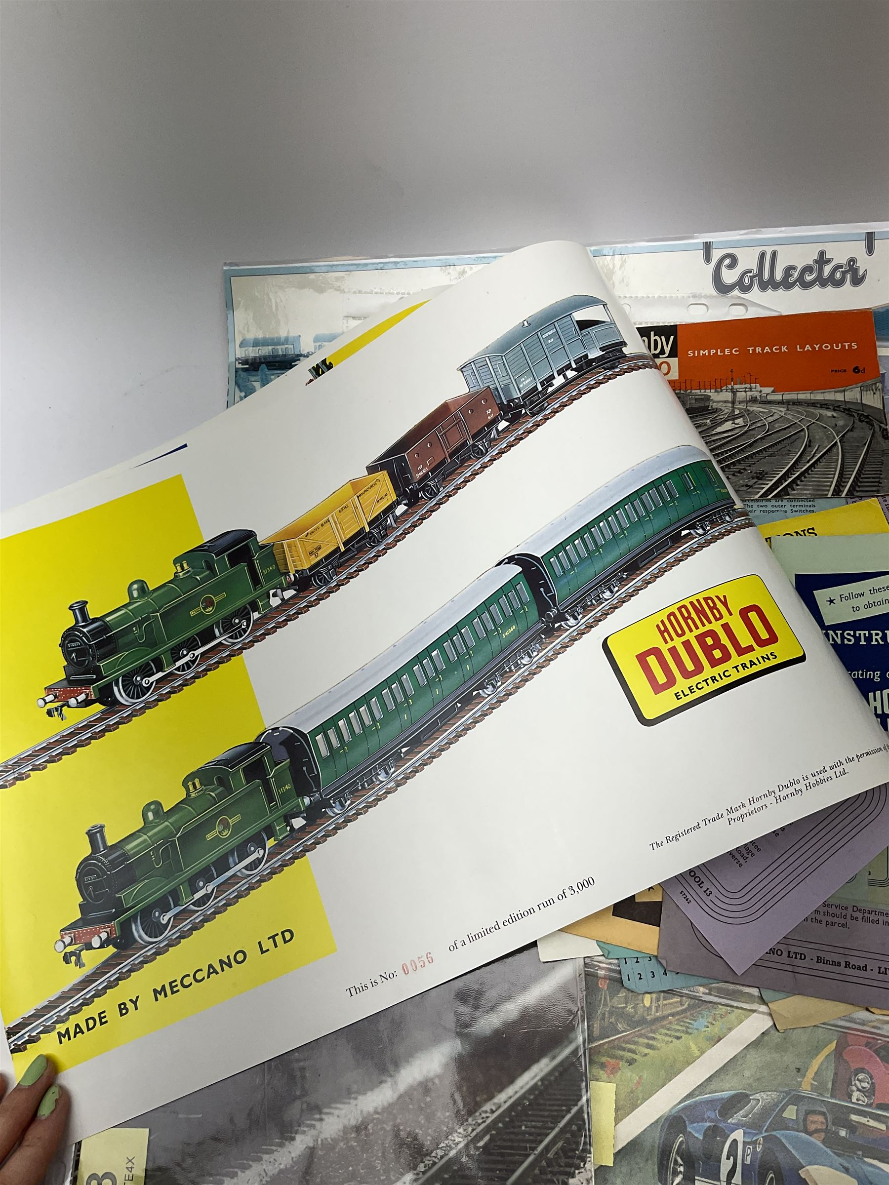 Hornby Dublo - quantity of paper ephemera including Electric Trains catalogues 1960 & 1961; Rail Lay - Image 2 of 9