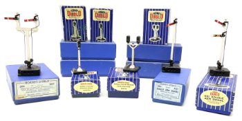Hornby Dublo - twelve electric semaphore signals comprising four ED1 Single Arm; two ED2 Double Arm;