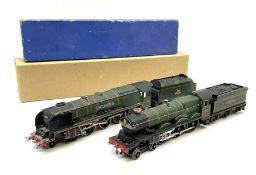 Hornby Dublo - three-rail Castle Class 4-6-0 locomotive 'Bristol Castle' No.7013 in medium blue box;