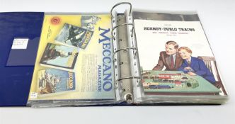 Modern loose leaf album containing over thirty model railway catalogues