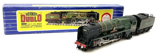 Hornby Dublo - three-rail Rebuilt West Country Class 4-6-2 locomotive 'Dorchester' No.34042 with ten