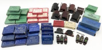 Hornby Dublo - large quantity of predominantly boxed switches including fifteen 32302 D1 switches; 1