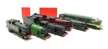 Hornby Dublo - re-painted Highland Railway Class N2 0-6-2 No.41 in modern box; two re-painted locomo