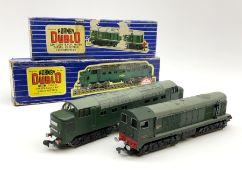 Hornby Dublo - three-rail Deltic Type Diesel Co-Co locomotive; and Class 20 1000 B.H.P. Bo-Bo Diesel
