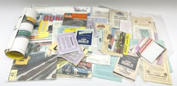 Hornby Dublo - quantity of paper ephemera including Electric Trains catalogues 1960 & 1961; Rail Lay