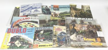 Hornby Dublo - three Electric Trains Catalogues 2nd - 4th editions 1960-62; Book of Trains 1959; New