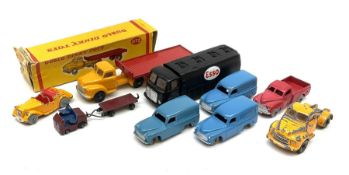 Dublo Dinky - boxed 072 Bedford Articulated Flat Truck; and eight unboxed models comprising 062 Sing