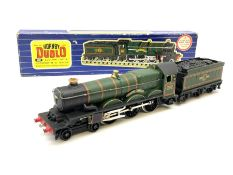 Hornby Dublo - three-rail Castle Class 4-6-0 locomotive 'Ludlow Castle' No.5002 with tender and inst