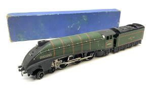 Hornby Dublo - three-rail A4 Class 4-6-2 locomotive 'Mallard' No.60022 with tender and oil tube in m