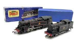 Hornby Dublo - three-rail Class N2 0-6-2 Tank locomotive No.69567 with yellow inner card cover