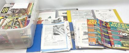 Three modern loose leaf binders containing quantity of model railway paper ephemera